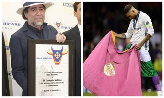 Joaquín Sabina (Unión de Clubes Taurinos Paul Ricard) y Sergio Ramos (Facebook).
