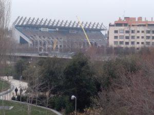 El Vicente Calderón en plena demolición: Ravelo.