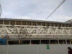 El estadio Santiago Bernabéu en obras: Foto cedida por Maribel De Jesús.
