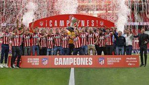 El Atlético de Madrid, campeón de Liga 2020/21: Atlético de Madrid.