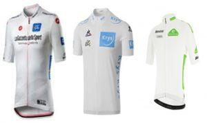 Maillots de los jóvenes: blanco tanto para Giro como para Tour como para Vuelta.