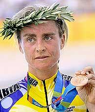 María Luisa Calle, bronce en la prueba por puntos en Atenas 2004: AFP.