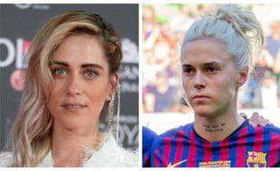 María León, actriz (Getty Images) y María León, futbolista (Steffen Prößdorf).