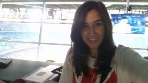 Cristina Hernández en el Camp Nou: Foto cedida por Cristina Hernández.