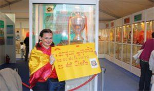 Servidora en el Museo de la Selección con la Eurocopa 2008: Ravelo.