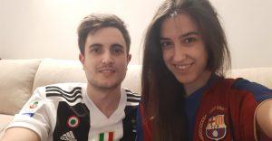 Cristina Hernández y su novio, el también periodista Manu Musmeci, tienen distintas preferencias cuando llega la Champions: Foto cedida por Cristina Hernández.