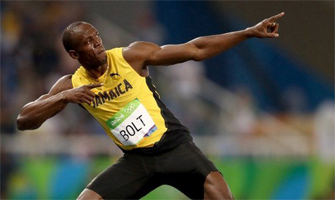 Usain Bolt: Getty Images.