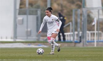 Ivana Andrés con el brazalete de capitana del Real Madrid Femenino: Twitter.