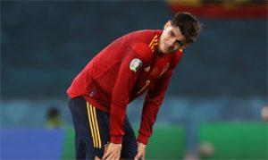 Álvaro Morata con la selección española: EFE.