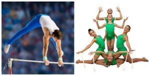 Gimnasia artística vs. gimnasia rítmica: RF.