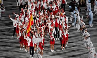 España en la ceremonia de inauguración de Tokio 2020: AFP.