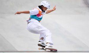 Momiyi Nishiya, campeona olímpica de skateboarding con 13 años: Reuters.