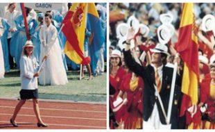 Los hermanos Cristina y Felipe de Borbón en Seúl 88 y Barcelona 92 respectivamente (RTVE, EFE).