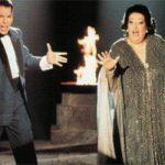 """Freddie Mercury y Montserrat Caballé interpretando """"Barcelona"""": RTVE."""