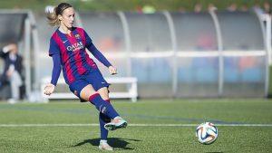Virginia Torrecilla cuando jugaba en el Barça: F.C. Barcelona.