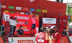 Marcus Cort Nielsen, ganador de la etapa 12, Jaén-Córdoba: Ravelo.