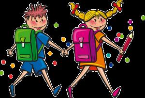 Niños yendo a la escuela: RF.